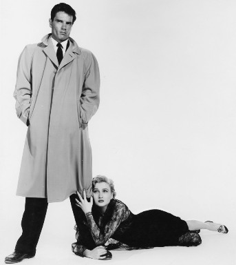 publicity shot fron the scarlet hour with Carol Ohmart and Tom Tryon