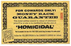 Yellow Refund Ticket for Cowards