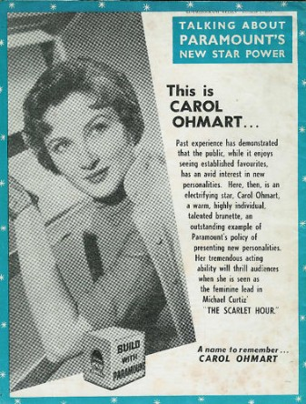 carol ohmart advert