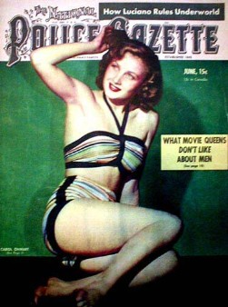 Carol Ohmart gazette cover